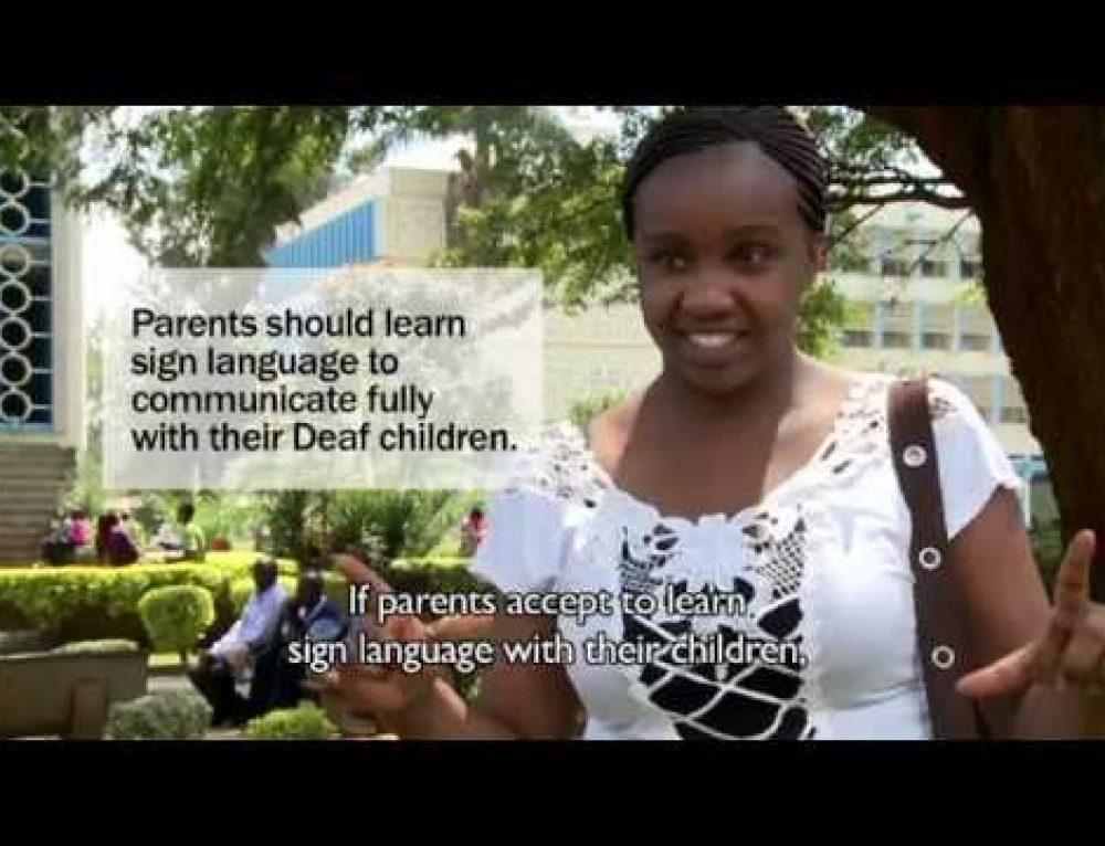Deaf role models in Africa: Kenya chapter documentary