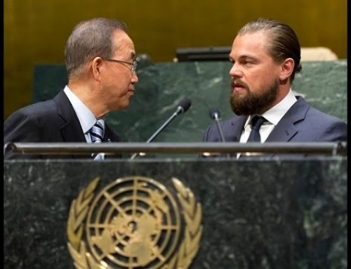 Leonardo DiCaprio Presented with Clinton Global Citizen Award by WWF's Carter Roberts