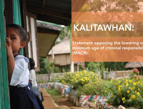 KALITAWHAN: Lowering MACR back to 9 will do more harm than protection