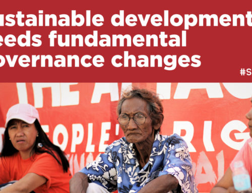 Report: Sustainable development needs fundamental governance changes