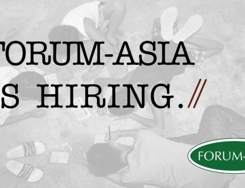 FORUM-ASIA IS HIRING: EXECUTIVE DIRECTOR