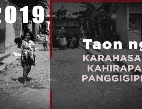 2019: Taon ng Kahirapan, Karahasan at Panggigipit